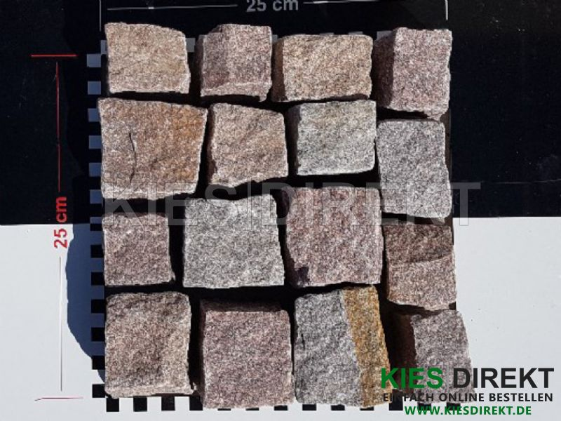 Granit Mosaikpflaster 4 6 Rot Braun